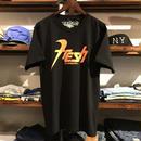 """【残り僅か】visualreports """"FRESH"""" tee (Black/Orange)"""