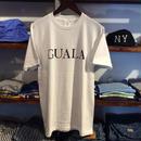 【残り僅か】GUALA logo tee (White/Black)