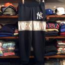 """【ラス1】Majestic """"NY YANKEES"""" sweat Line pants (Navy)"""
