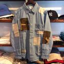 RUGGED ''REMADE'' denim  shirt(Camo)