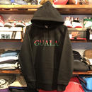 "【残り僅か】GUALA ""Two‐tone Logo"" sweat hoody (12.7o.z/Black)"