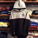 """【ラス1】Majestic """"NEW YORK"""" small logo hoody(Gray×Black)"""