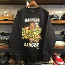 【残り僅か】RUGGED ''RAPPERS ARE DANGER''super heavy weight sweat(Navy/12.7oz)
