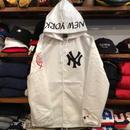 """【ラス1】Majestic """"NY"""" hooded coach jacket (White)"""