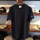 RUGGED on Champion pocket tee(Navy)