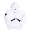 """Majestic """"NEW YORK"""" anorak nylon hoody(White)"""