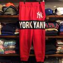 """【ラス1】Majestic """"NY YANKEES"""" sweat Line pants (Red)"""