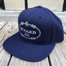 """RUGGED """"RUGGED TOKYO"""" snap back(Navy)"""