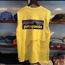 【ラス1】patagonia logo tee(Yellow)
