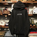 "RUGGED ""LOVE"" sweat hoodie (Black/8.0oz)"
