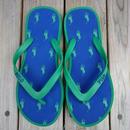 """【残り僅か】POLO RALPH LAUREN """"small pony""""Beach sandal (Green/Navy)"""