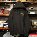 "RUGGED on Champion ""arch C"" one point sweat hoodie (Black)"