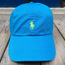 "【ラス1】POLO RALPH LAUREN ""small pony '' logo adjuster cap (Blue×Light Green)"