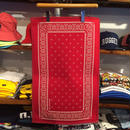 "【ラス1】SECOND LAB. ""PAISLEY"" rug mat (Red)"