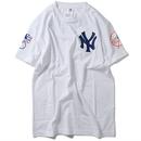 "Majestic "" NEWYORK YANKKES logo"" tee (White)"