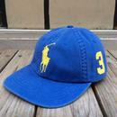 """【ラス1】POLO RALPH LAUREN """"BIG PONY"""" adjuster cap (Blue × Yellow)"""