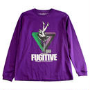 """【ラス1】visualreports """"FUGITIVE"""" L/S tee (Purple)"""