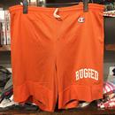 "RUGGED on vintage/Champion ""SMALL ARCH"" mesh shorts (Orange)"