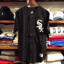 """【残り僅か】Majestic """"WHITE SOX"""" Cotton Baseball shirts(Black)"""