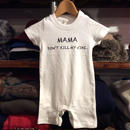 【ラス1】RUGGED kids ''Mama, Don't kill my vibe.'' rompers(White×Black)