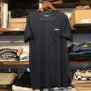 "RUGGED on vintage ""ARCH LOGO"" Light oz. pocket tee (Navy)"