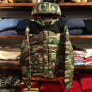 """DENIM&SUPPLY """"FLAG PATCH"""" rips tops quilt down jacket  (Wood land camo)"""