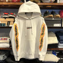 "RUGGED ""BLUNT FIRE"" sweat hoodie  (12.0oz./White)"