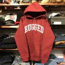 """【残り僅か】RUGGED """"ARCH LOGO"""" sweat hoodie (Burgundy/10.0oz)"""