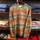 """【残り僅か】DENIM&SUPPLY """"SOUTH WESTERN"""" cotton henry neck shirt (Green)"""