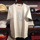 """LES CINQ LETTRES. """"Naked"""" tee(White)"""