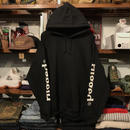 "RUGGED ""SLEEVE LOGO"" sweat hoodie (Black/8.0oz)"