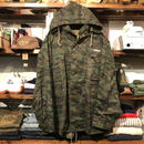 "RUGGED on vintage ""Stencil Arch"" tiger camo M-65 field jacket (XL)"