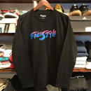 "RUGGED ""FREE STYLE"" L/S tee (Black×Blue)"