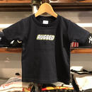 "【ラス1】RUGGED ""RUGD"" Kids tee (100/Navy)"