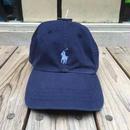 """【ラス1】POLO RALPH LAUREN """"small pony '' logo adjuster cap (Navy×Lightblue)"""