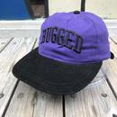 """【残り僅か】RUGGED on deadstock  """"ARCH LOGO"""" adjuster cap (Purple/Black)"""
