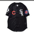"""【残り僅か】Majestic """"AREA TEAM"""" Baseball Shirts (Black)"""