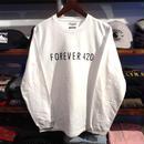 """【ラス1】RUGGED """"FOREVER 420"""" L/S tee (White)"""