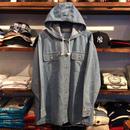 MARSH LANDING denim hoodie shirt (XL)