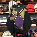 GRAND MONARCH peeled design sweater (L)