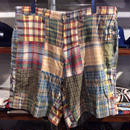 POLO RALPH LAUREN patchwork shorts ①