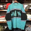 ALPS nordic sweater (Turquoise)