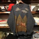 GreenHawk winter horse knit (L)