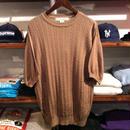 IRVINE PARK aran pattern S/S knit (M)