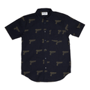 FUCKING AWESOME Gun Button Down - Navy