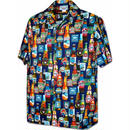 "Pacific Legend Hawaiian Shirts""Beer""-Navy"