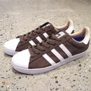 adidas skateboarding SUPERSTAR VULC ADV BROWN WHITE