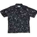 FUCKING AWESOME Dictionary Cabana Button Down- Black