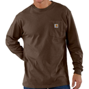 CARHARTT  LONG SLEEVE WORKWEAR POCKET T-SHIRT-Dark Brown
