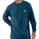 CARHARTT  LONG SLEEVE WORKWEAR POCKET T-SHIRT-Stream Blue